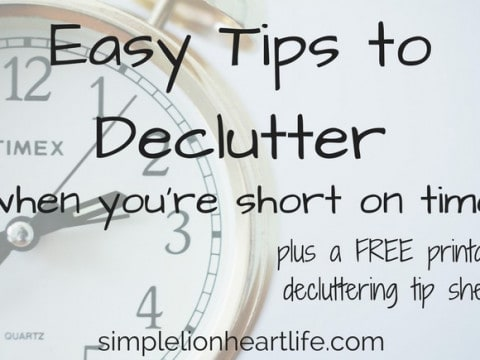 Tips to Declutter When You're Short on Time: Small Actions that Add up to Big Results