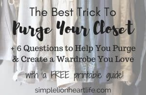 Best trick to purge your closet
