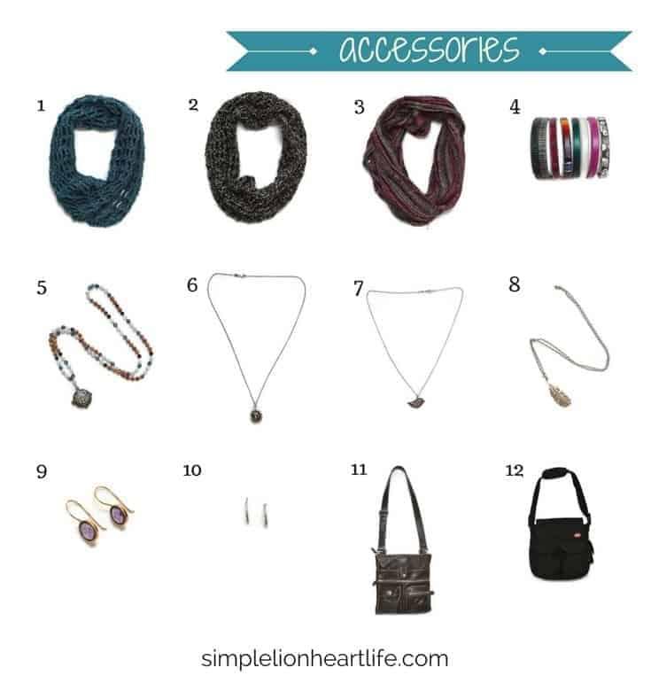 2017 Winter Capsule Wardrobe - accessories