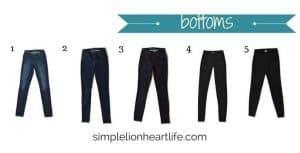 2017 Winter Capsule Wardrobe - bottoms