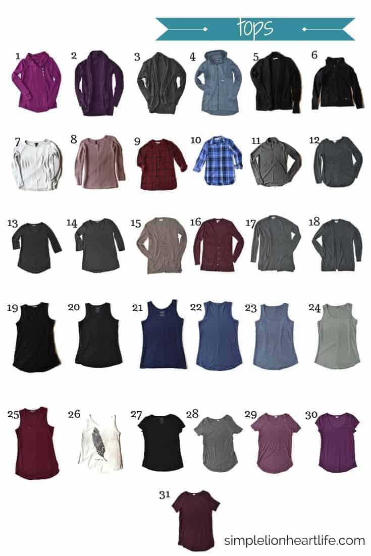 2017 Winter Capsule Wardrobe - tops