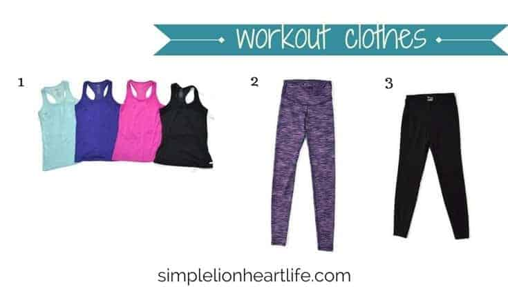2017 winter capsule wardrobe - workout clothes