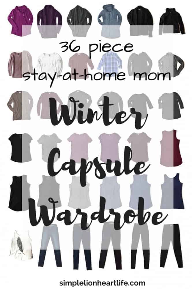 2017 36 piece stay at home mom winter capsule wardrobe