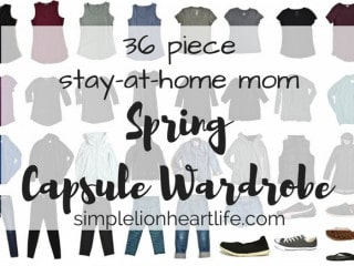 36 piece stay at home mom spring capsule wardrobe