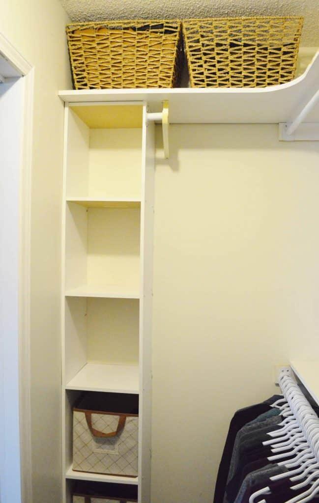 Minimalist closet makeover - additional storage