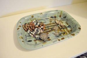 Minimalist closet makeover - jewelry plate