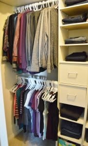 Minimalist closet makeover - my closet before