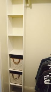 Minimalist closet makeover - shoes and empty shelves