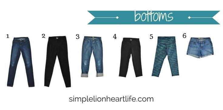 2017 stay at home mom spring capsule wardrobe - bottoms