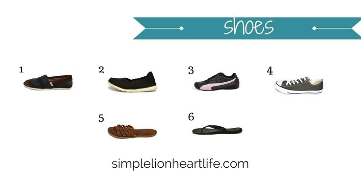 2017 stay at home mom spring capsule wardrobe - shoes