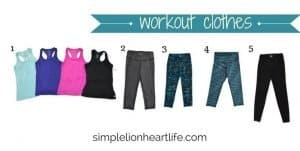 Spring 2017 stay at home mom capsule wardrobe - workout clothes