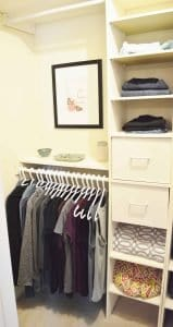 Minimalist closet makeover - after