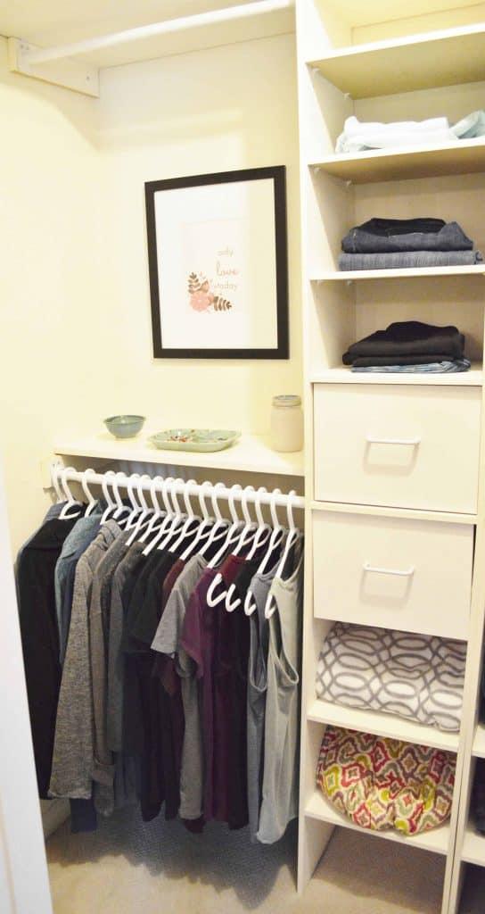 Minimalist closet makeover - after