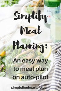 Simplify Meal Planning - an easy way to meal plan on auto-pilot