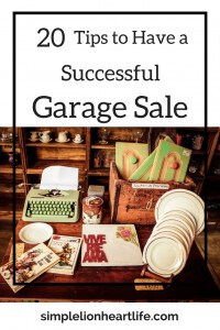 20 Tips to Have a Successful Garage Sale