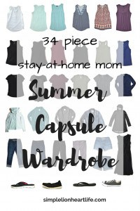 Summer capsule wardrobe - 2017 stay at home mom summer capsule wardrobe