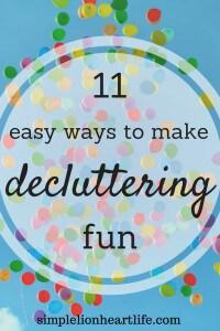 11 Easy Ways to Make Decluttering Fun