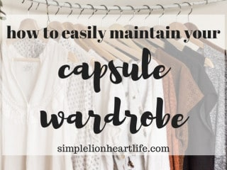 How to easily maintain your capsule wardrobe