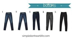 2017 stay at home mom fall capsule wardrobe - bottoms