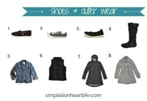 2017 stay at home mom fall capsule wardrobe - shoes & outer wear