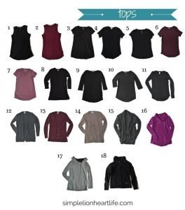 2017 stay at home mom fall capsule wardrobe - tops