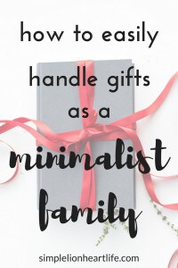How to easily handle gifts as a minimalist family