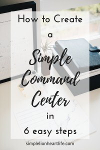 How to create a simple command center in 6 easy steps: keep paperwork and office supplies organized, centralized and easy to find!