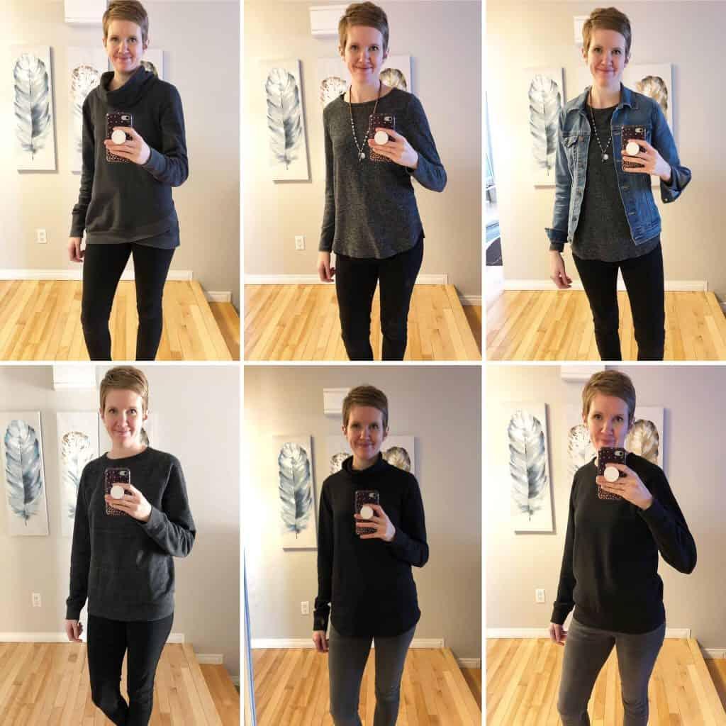 Winter to spring capsule wardrobe: uniform examples - simple lionheart life