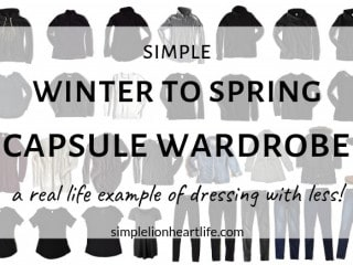 Winter to spring 33 item stay at home mom capsule wardrobe