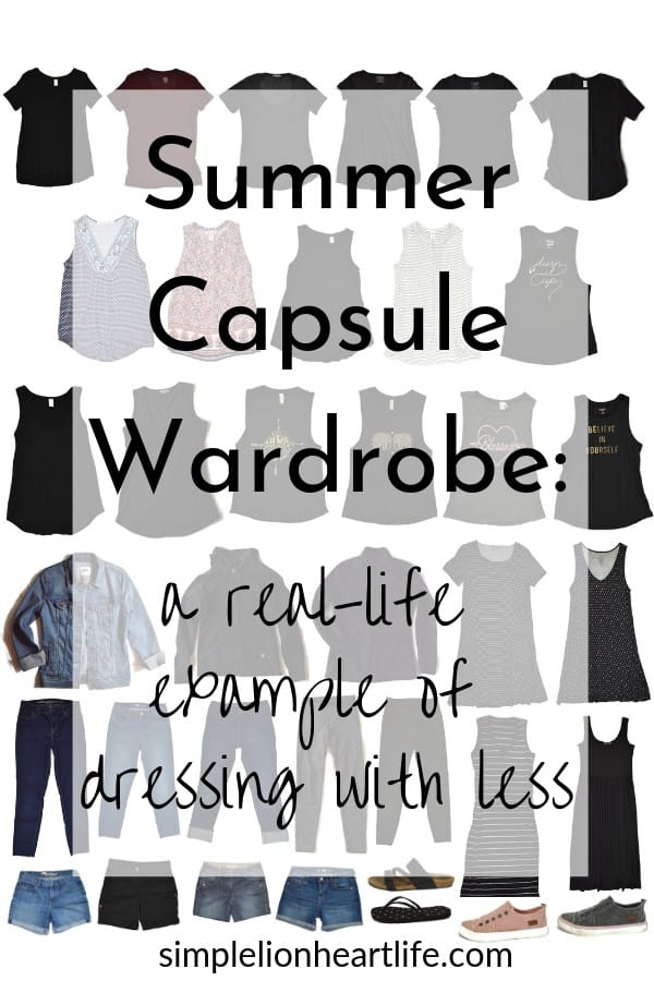 Summer capsule wardrobe - a real-life example of dressing with less