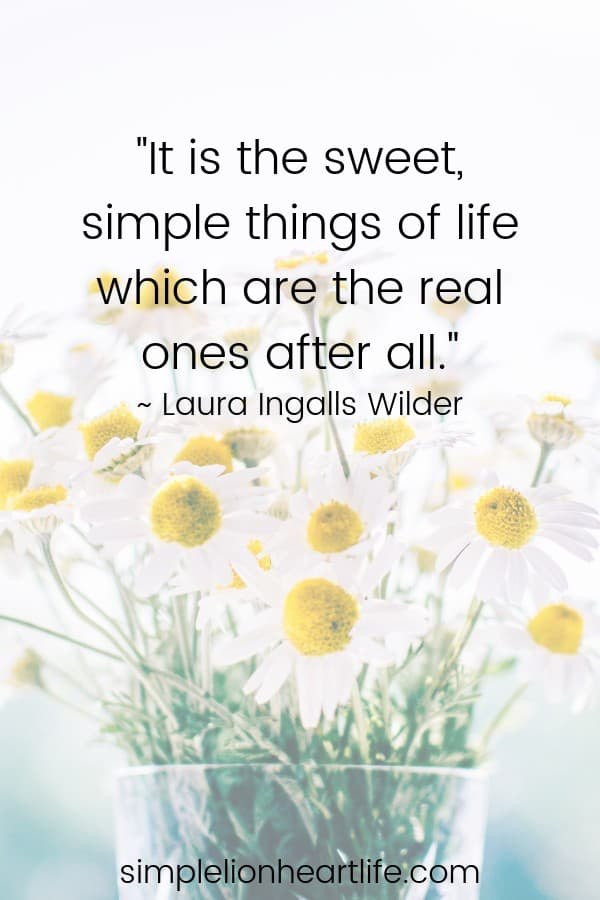 Simple living quotes: