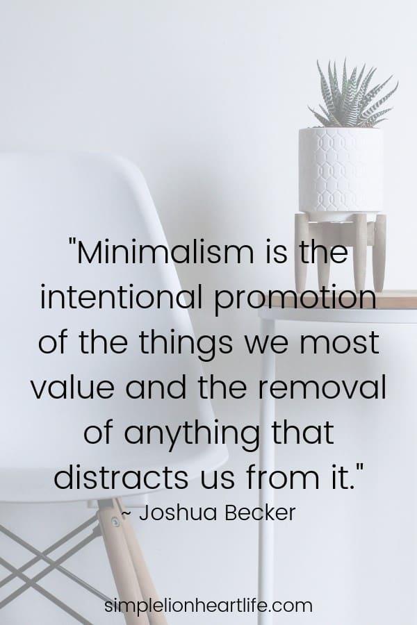 Minimalist quotes: