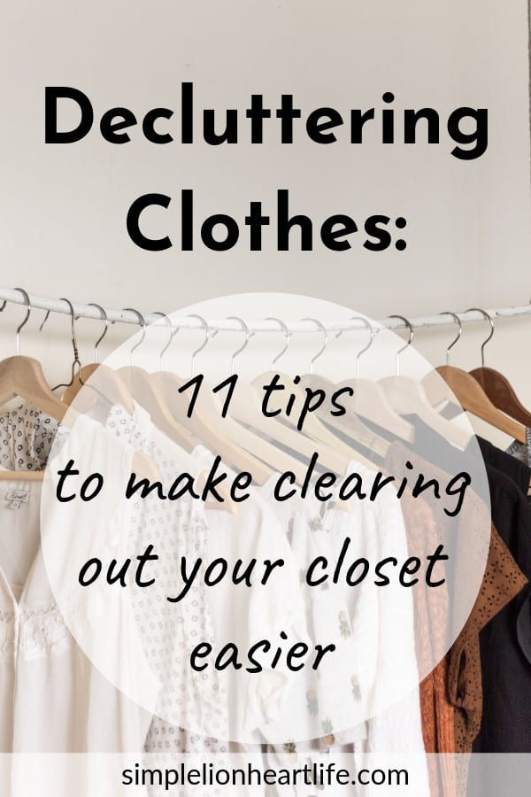 Decluttering clothes: 11 tips & tricks to make getting rid of clothes easier