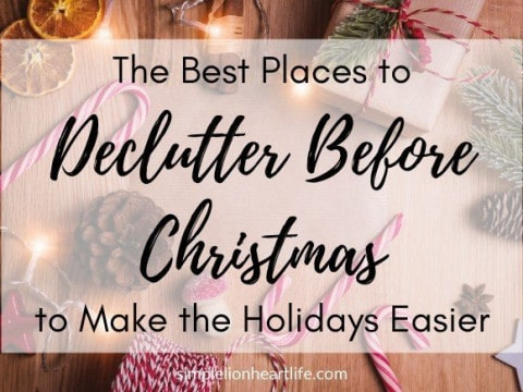 The Best Places to Declutter Before Christmas to Make the Holidays Easier
