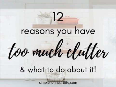 12 Reasons You Have Too Much Clutter & What to do About It!