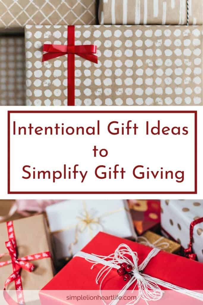 Intentional gifts ideas to simplify gift giving
