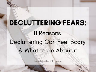 Decluttering Fears: 11 Reasons Decluttering Can Feel Scary & What to do About it